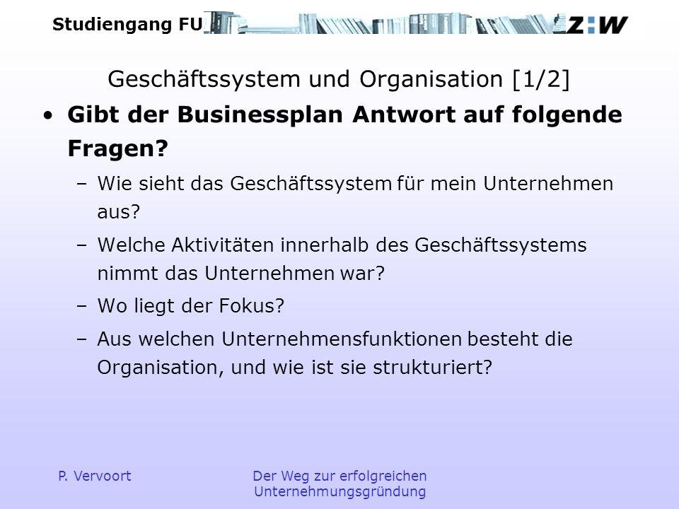 Geschäftssystem und Organisation [1/2]